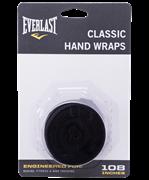 Бинт боксерский Everlast 4466BK, 3.5 м, хлопок, черный