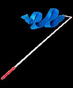 Лента для художественной гимнастики RGR-201 4м, с палочкой 46 см, голубой