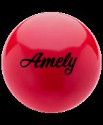 Мяч для художественной гимнастики AGB-101, 15 см, красный