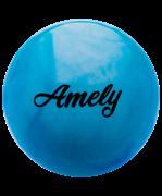 Мяч для художественной гимнастики AGB-101, 15 см, синий/белый