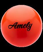Мяч для художественной гимнастики AGB-101 19 см, оранжевый