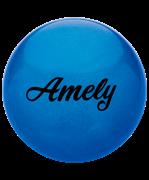 Мяч для художественной гимнастики AGB-101, 15 см, синий, с блестками