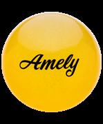 Мяч для художественной гимнастики AGB-102 19 см, желтый, с блестками