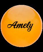 Мяч для художественной гимнастики AGB-102, 19 см, оранжевый, с блестками