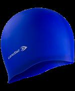 Шапочка для плавания, силикон, синий