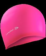 Шапочка для плавания, силикон, розовый