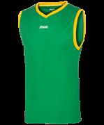 Майка баскетбольная JBT-1020-034, зеленый/желтый