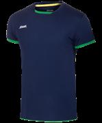 Футболка волейбольная JVT-1030-093 темно-синий/зеленый