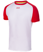 Футболка футбольная JFT-1011-012, белый/красный
