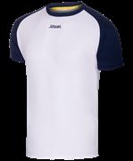 Футболка футбольная JFT-1011-019, белый/темно-синий