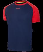 Футболка футбольная JFT-1011-092, темно-синий/красный
