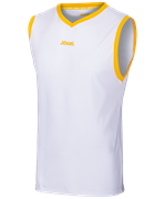 Майка баскетбольная JBT-1020-014, белый/желтый, детская