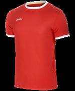 Футболка футбольная JFT-1010-021, красный/белый, детская