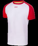Футболка футбольная JFT-1011-012, белый/красный, детская
