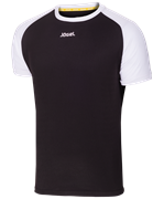 Футболка футбольная JFT-1011-061, черный/белый, детская