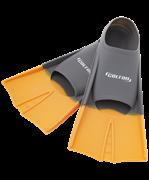 Ласты тренировочные CF-01, серый/оранжевый, размер 30-32