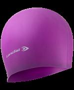 Шапочка для плавания, силикон, фиолетовый