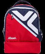 Рюкзак Double bottom JBP-1903-291, красный/темно-синий/белый, L