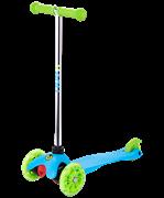 Самокат 3-колесный Zippy 2.0 3D 120/80 мм, голубой