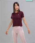 Женская спортивная футболка Balance FA-WT-0104, бордовый