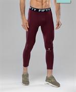 Мужские спортивные тайтсы Balance FA-MH-0103, бордовый