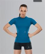 Женская компрессионная футболка Intense PRO FA-WT-0101, синий