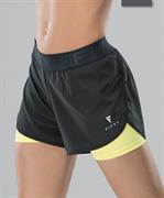 Женские спортивные шорты Intense PRO FA-WS-0103, черный/желтый