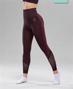 Женские спортивные бесшовные леггинсы Balance FA-WH-0108, бордовый