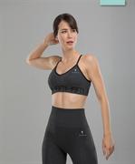 Женский бесшовный спортивный бра-топ Balance FA-WB-0106, серый