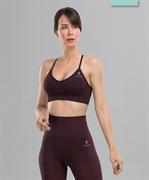 Женский бесшовный спортивный бра-топ Balance FA-WB-0106, бордовый