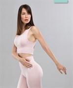 Женский бесшовный спортивный бра-топ Balance FA-WB-0107, розовый