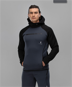 Мужское спортивное худи Intense PRO FA-MJ-0101, черный/темно-серый