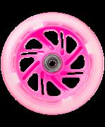 Светодиодное колесо для самоката, 120 мм, розовое