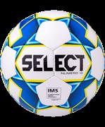 Мяч футбольный Numero10 IMS №5, белый/синий/желтый