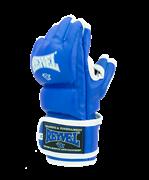 Перчатки ММА, кожзам, синий