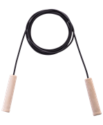 Скакалка резиновая с деревянной ручкой, 3,80 м (ТОЛЬКО по 10 шт.)