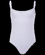 Купальник гимнастический AA-110, на бретелях, хлопок, белый (36-42)