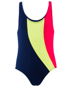 Купальник для плавания SC-4908, совместный со вставками, темно-синий (28-34)