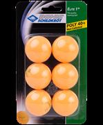 Мячи для настольного тенниса, 1* Elite, оранжевый, 6 шт.