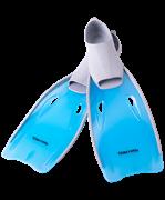 Ласты пластиковые CF-02, серый/голубой, размер 35-37