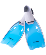 Ласты пластиковые CF-02, серый/голубой, размер 40-42