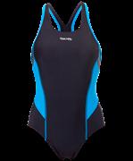 Купальник для плавания SC-3901 Delicate, совместный со вставками, черный/синий, 42-50