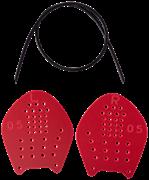 Лопатки для плавания Target, красный, S