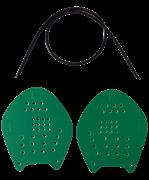 Лопатки для плавания Target, зеленый, M