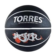 Мяч баскетбольный Torres Prayer черно-серебристо-красный р.7