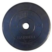 Диск обрезиненный черный Atlet Barbell d-51 15 кг