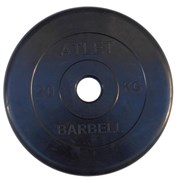 Диск обрезиненный черный Atlet Barbell d-51 25 кг