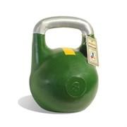 Гиря чемпионская Titan 8 кг (Зеленая с желтой полосой)