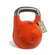 Гиря чемпионская Titan 30 кг (Оранжевая с красной полосой)