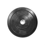 Диск для кроссфита (Бампер) черный Shigir 25 кг